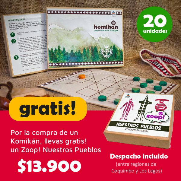 Promoción Komikán + Zoop! Nuestros Pueblos